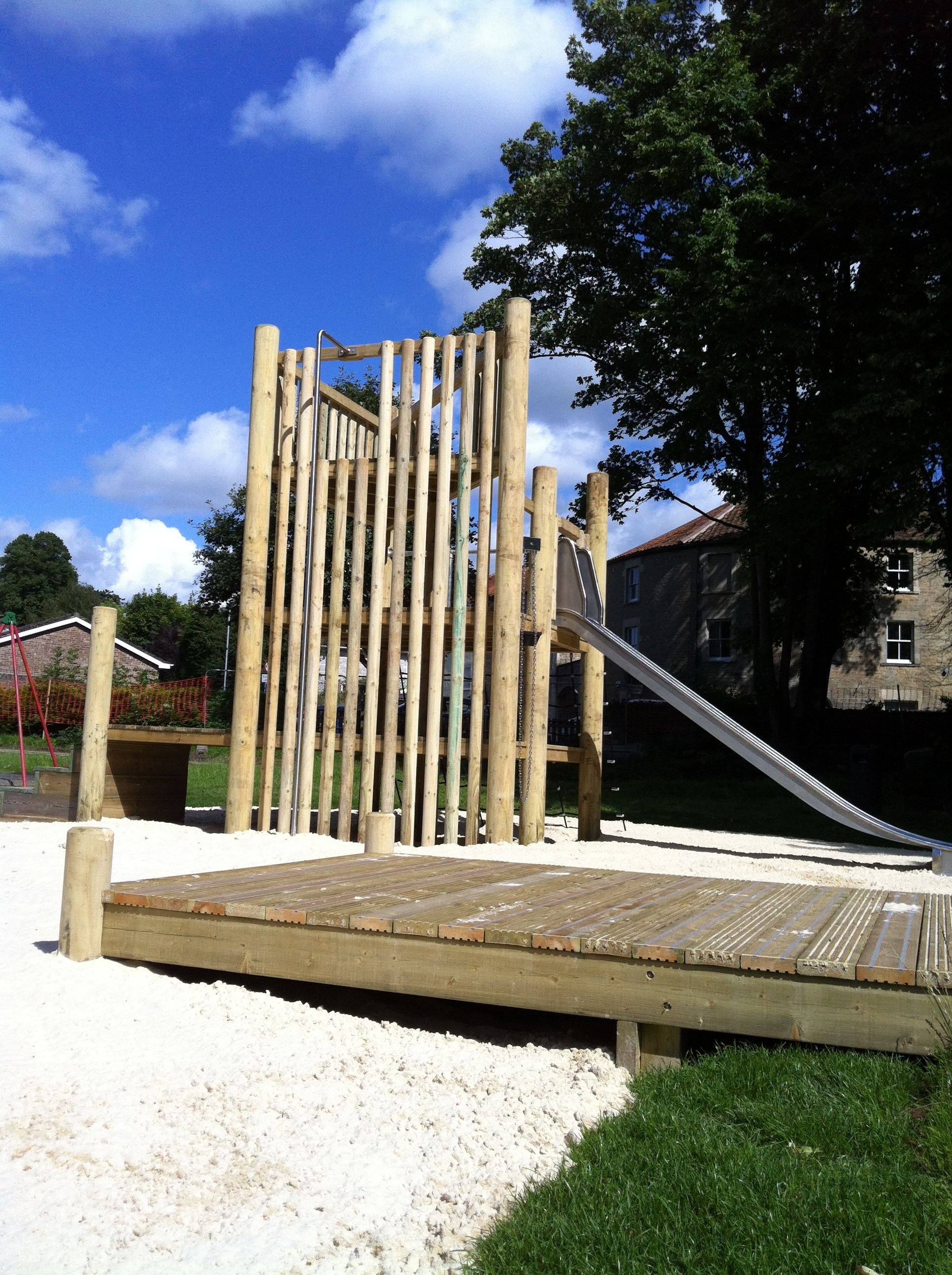 Bespoke tower & sandpit in a public play area in Frome