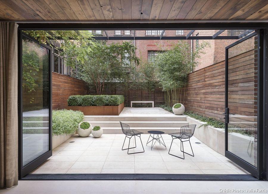 Jardin design : le calme d\'un jardin à New-York   Garden ideas and ...