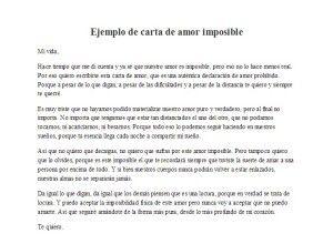 Una Carta Para Un Amor Imposible Ejemplo De Carta De Amor Imposible Cartas De Amor Imposible