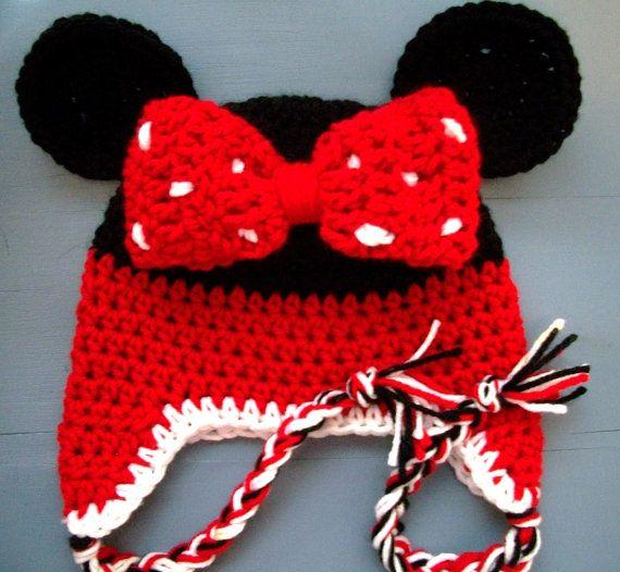 Minnie Mouse Baby Beanie | Cosas para ponerse | Pinterest