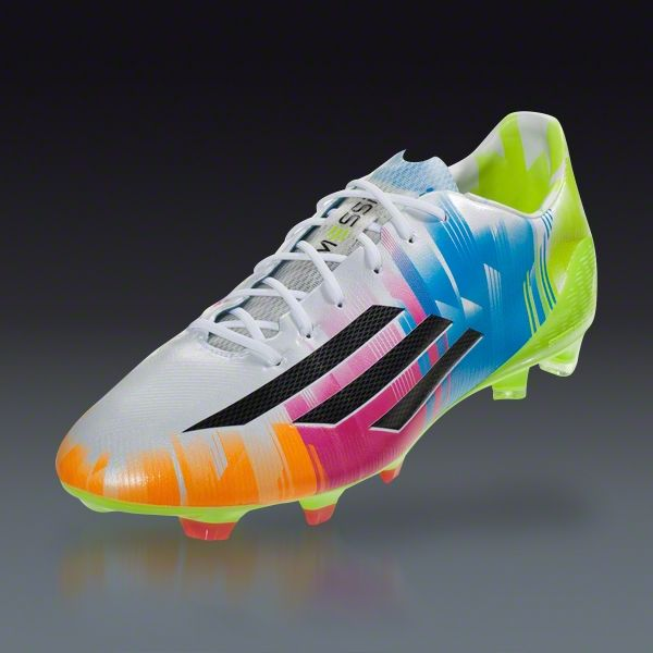 adidas F50 adiZero TRX FG Messi - Running White/Black/Solar Slime Firm  Ground