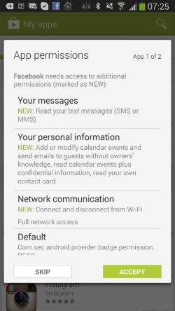 Facebook Intrusion Continues Privacy Sms Calendar Sms Message