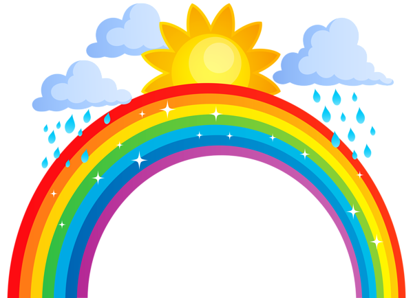 Rainbow Sun And Clouds Png Transparent Clip Art Image Clip Art Sun And Clouds Clip Art Library