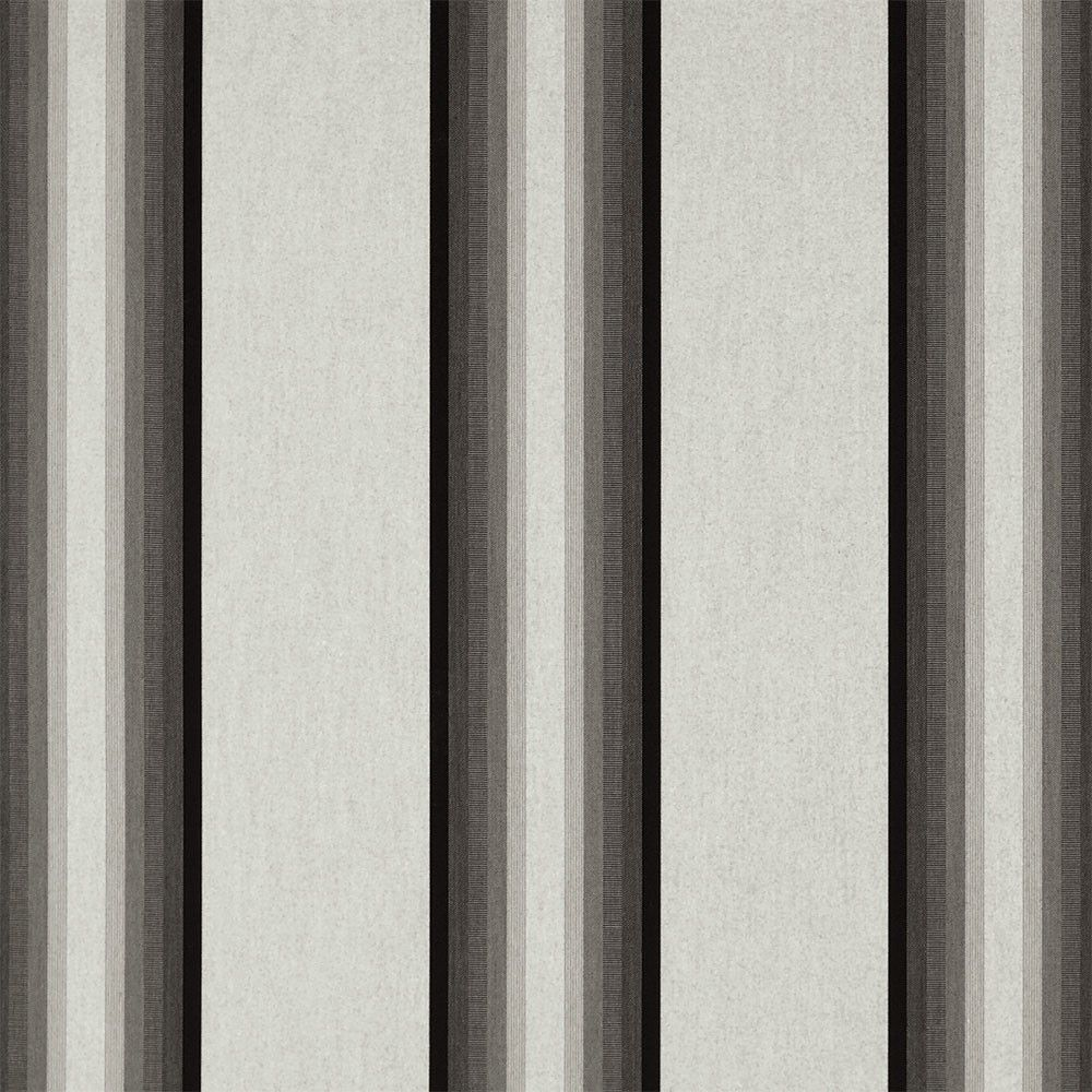 Sunbrella Grey Black White 4799-0000 Awning / Marine Fabric - Sunbrella Grey Black White 4799-0000 Awning Marine Fabric is one of Sunbrella's most popular striped awning fabrics. Enjoy years of beautiful awnings for your home or business that are easy to clean, UV, mildew and stain resistant. Sunbrella's solution-dy
