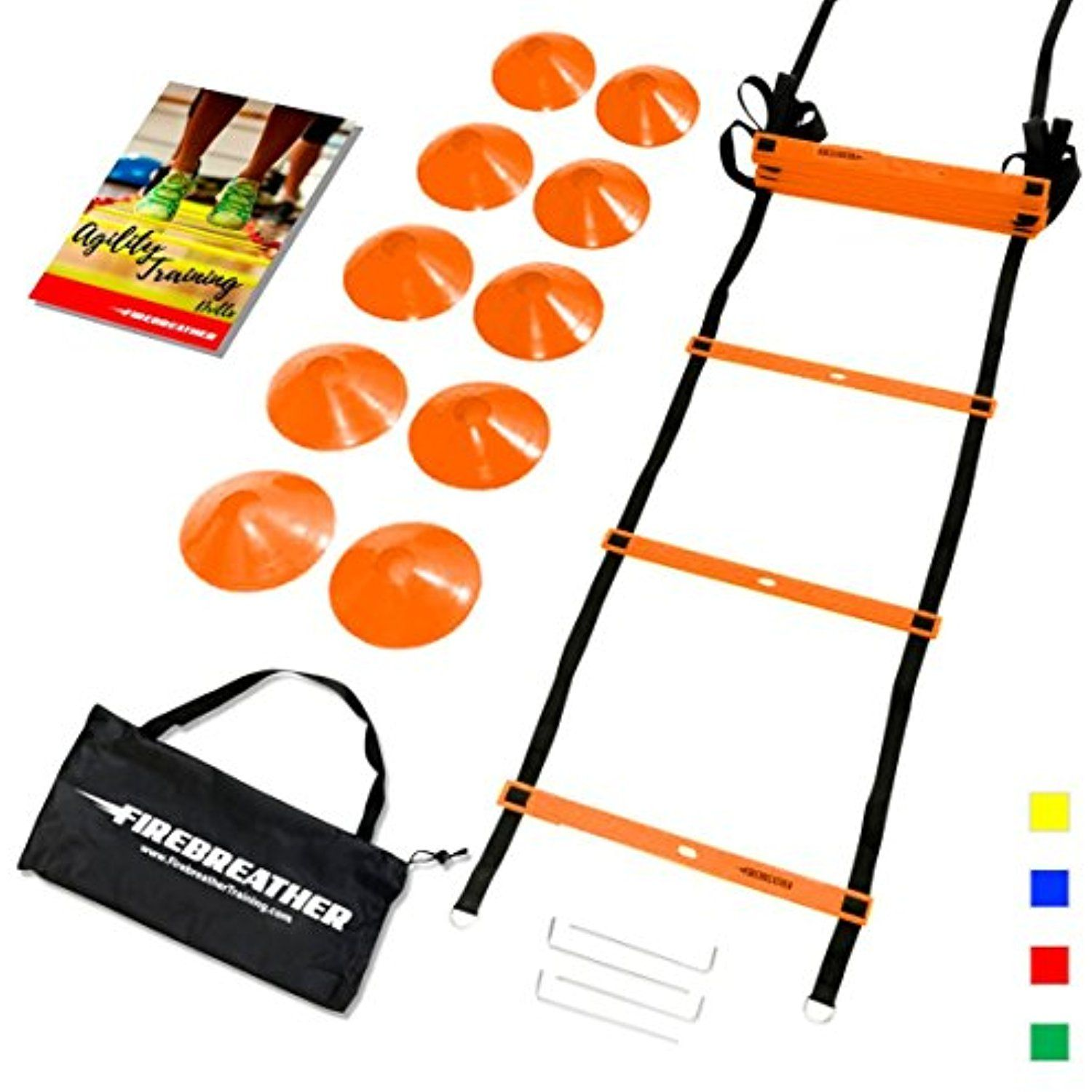 Agility Ladder And Cones By Firebreather Great Training Equipment To Improve Soccer Football Agility Ladder Basketball Training Equipment Training Equipment