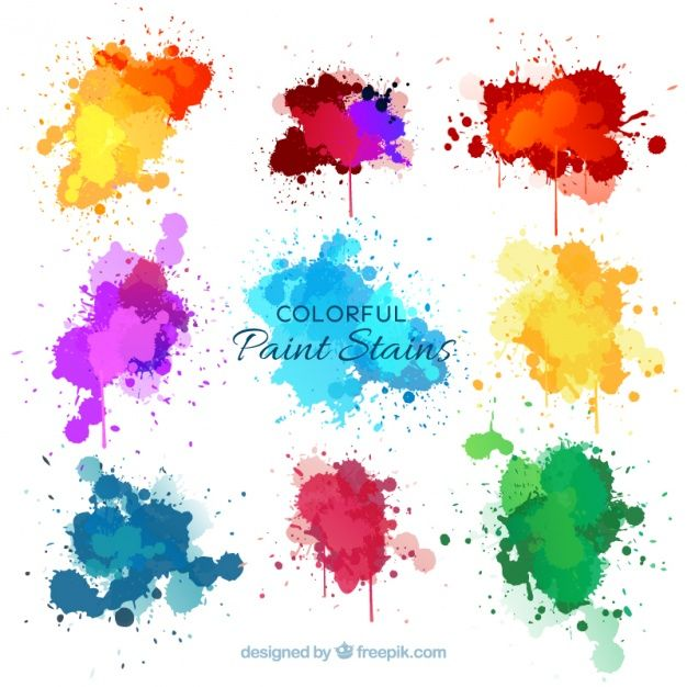 Download Nine Watercolor Splashes For Free Watercolor Splash Vector Free Splash Free