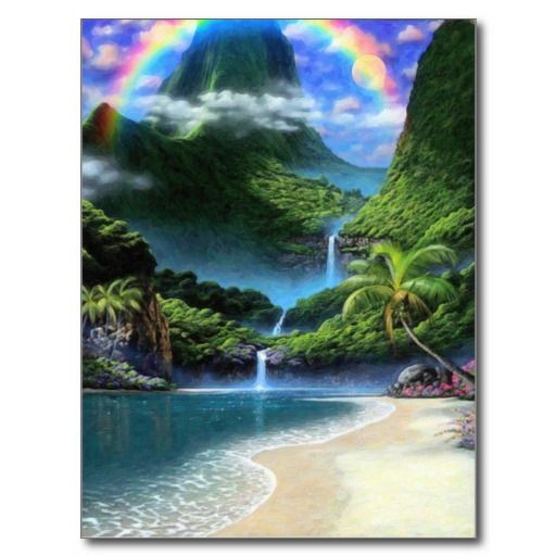 Heaven lrg rainbow 2 postcard