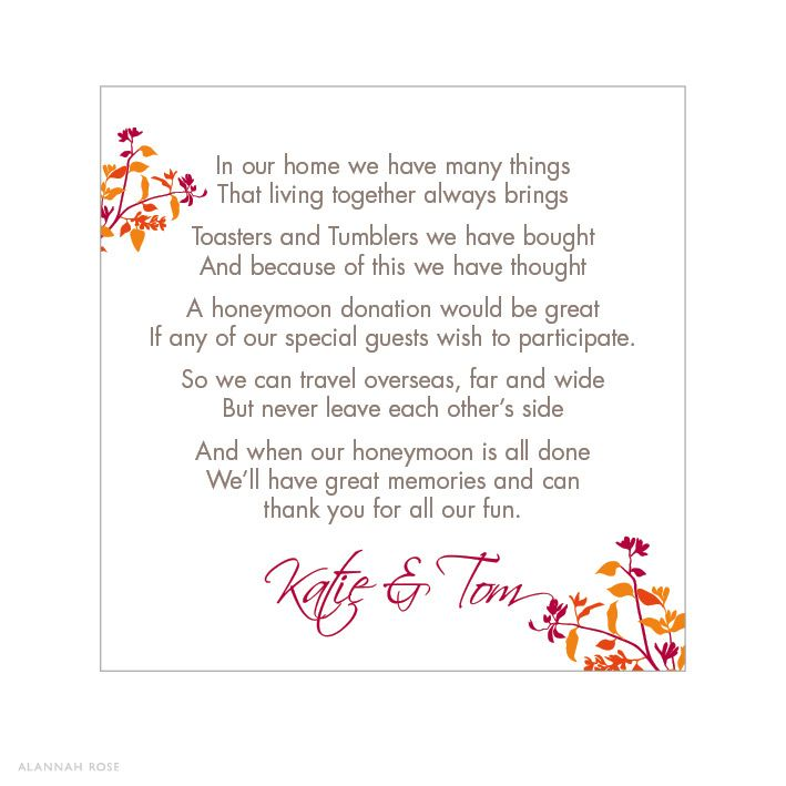 wedding invitation gift wording - Google Search Wedding Pinterest ...