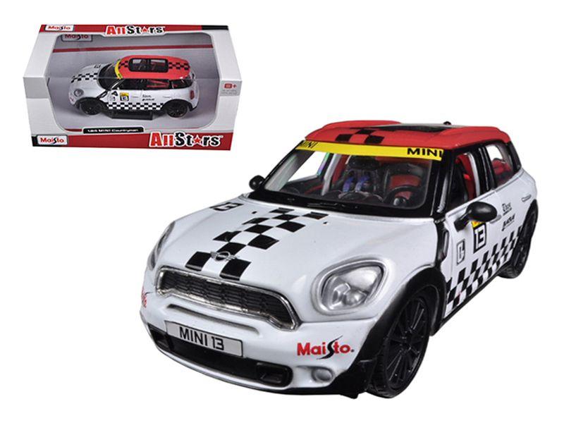 Mini Cooper Coutryman White 13 1 24 Diecast Car Model By Maisto