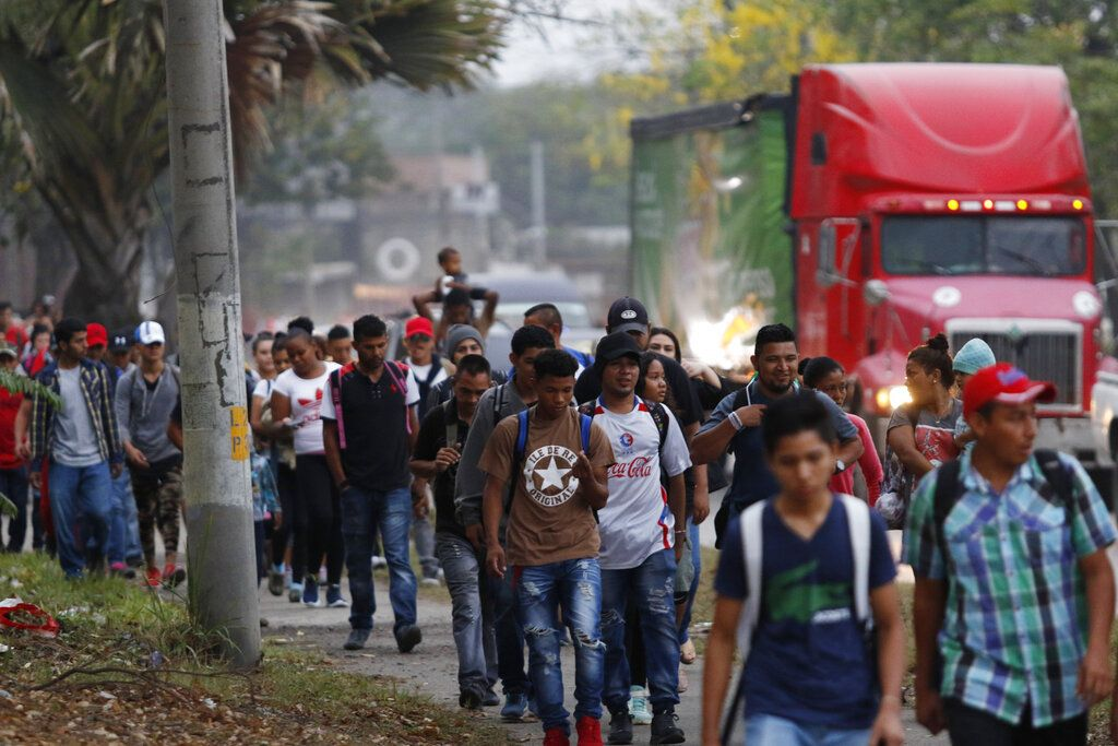 Image result for Democrats will be angry, Mexican authorities reported as rounding up100's of caravan invaders