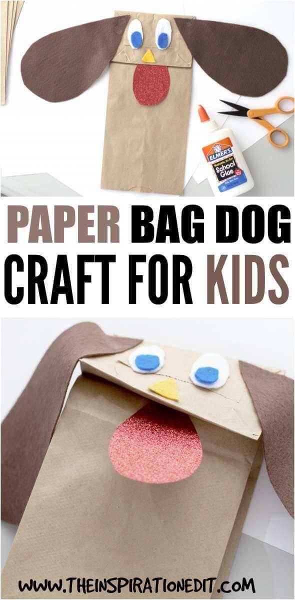 PAPER BAG DOG CRAFT FOR KIDS #animalcrafts