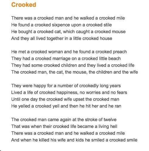 Crooked Man Poem Google Search