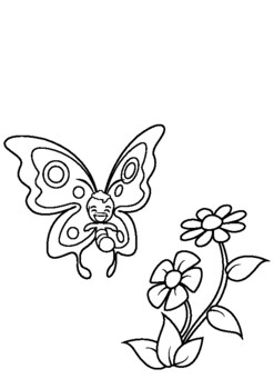 Print And Go Butterfly Coloring Pages Free Coloring Book For