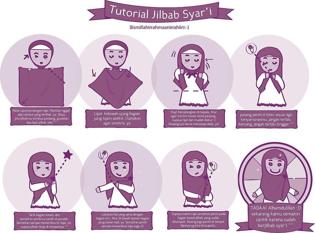 Jilbab Syar'i Undangan Pernikahan Online Kartun