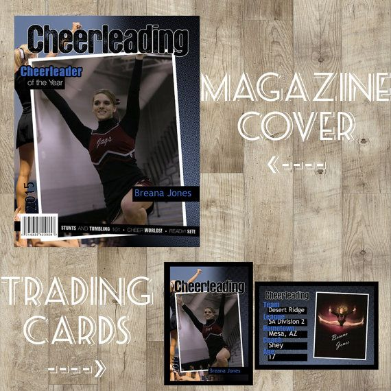 Cheer Plaque Cheer Poster Trading Cards Kids by TheNauticalHouse