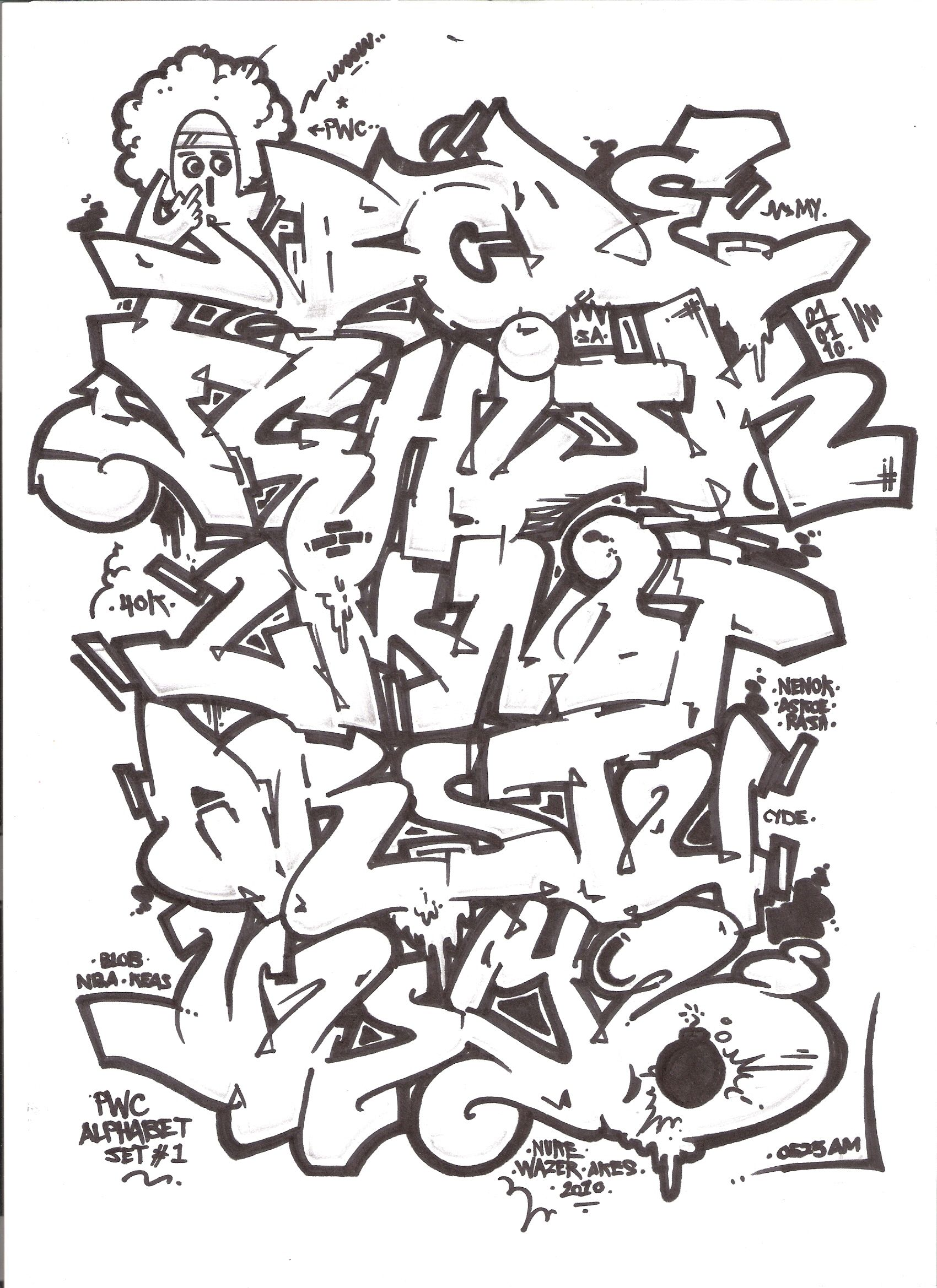 Alphabet Graffiti Block Style Hd Photos Gallery