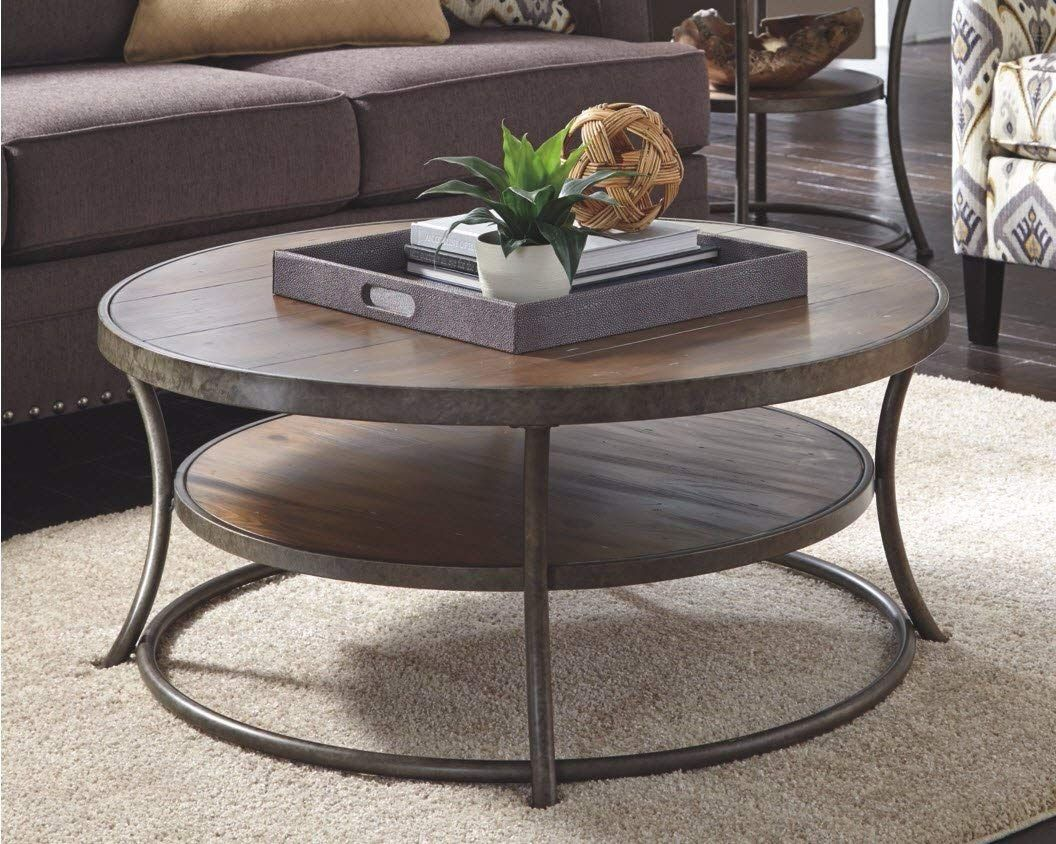 Vintage Casual Coffee Table Round Coffee table, Round