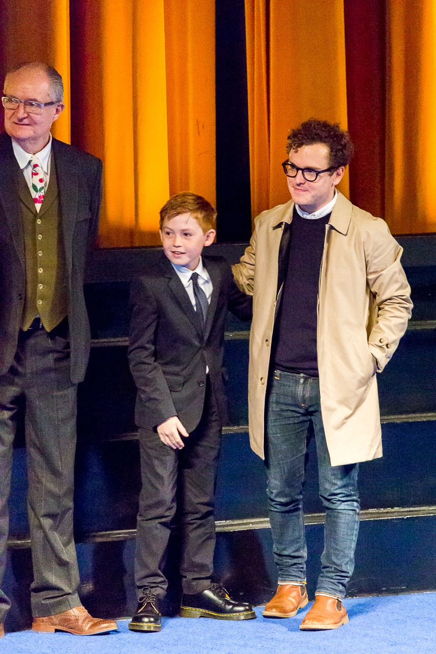 Jim Broadbent with other cast members at the Get Santa film premiere