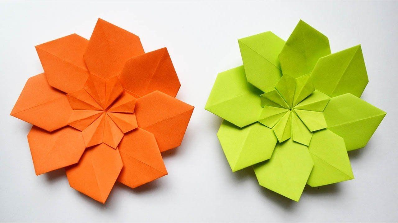 Amazing Paper Flower Modular Origami Tutorial Diy Origami Betty