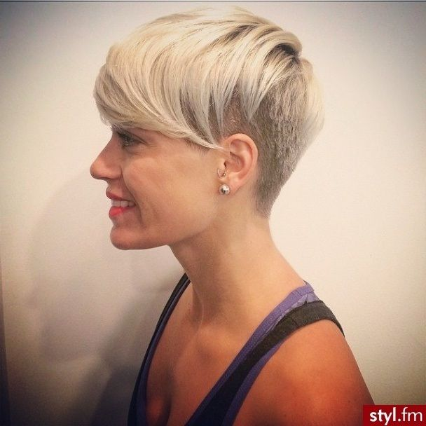 Short Shaved Hairstyles Coupescourtes4 608×608  Hairstyles  Pinterest