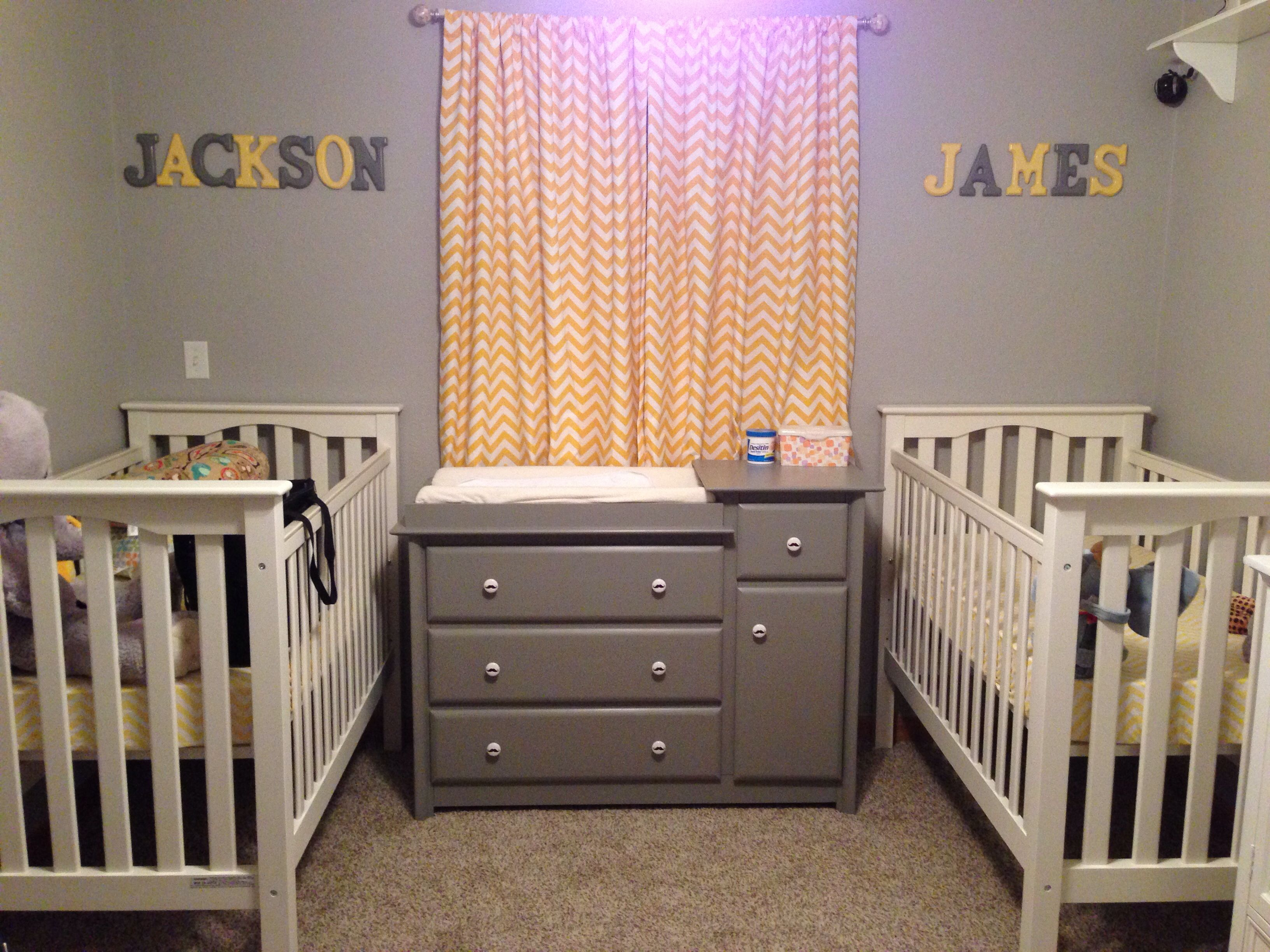 We Have A Similar Room Layout   Put Changing Table In Front Of Window  Flanked By Cribs.