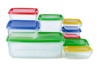 Plastic containers for food