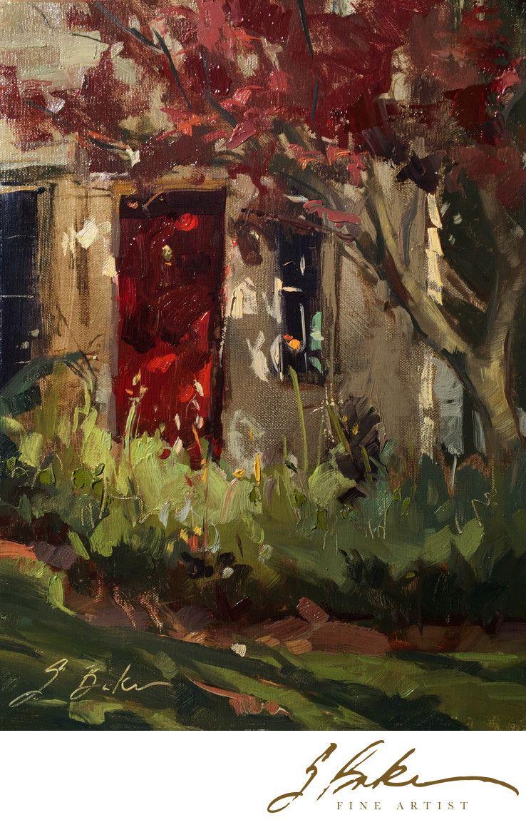 "Suzie Baker, Fine Artist Rote Tur, 12x9"", oil on linen"