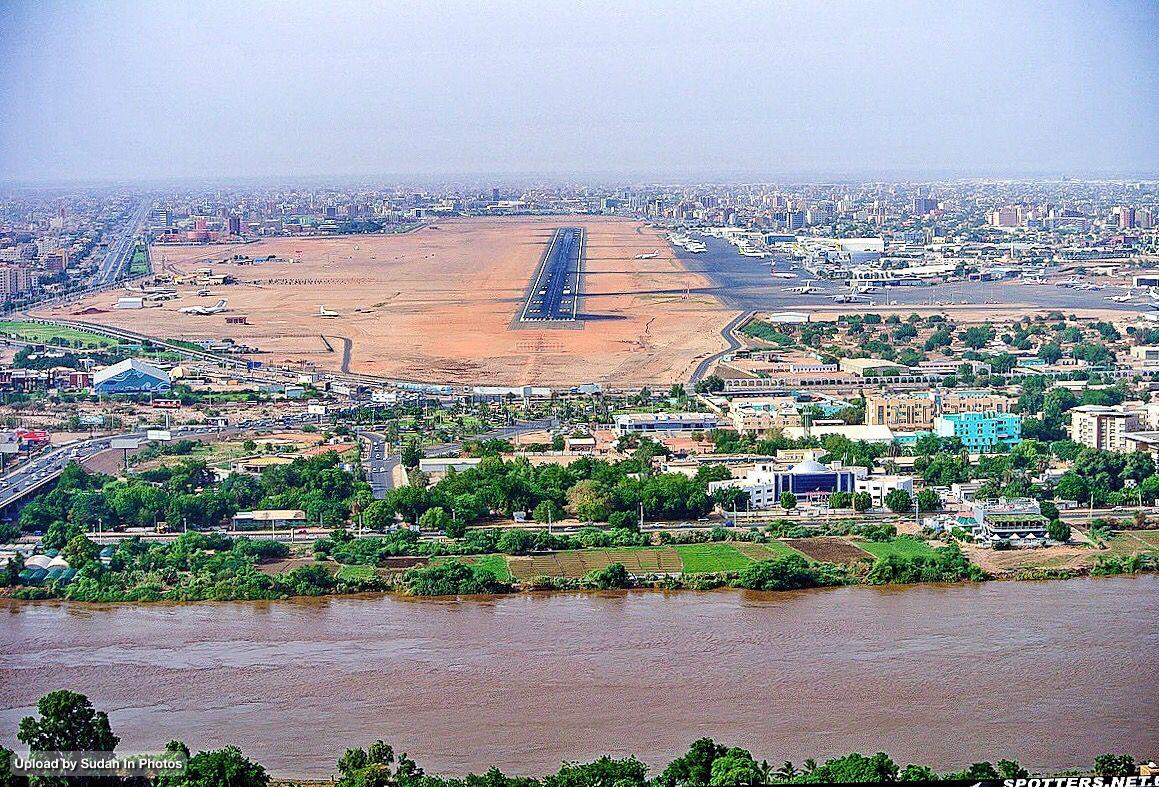 Khartoum Aerial Photo And The Blue Nile صورة من الجو للخرطوم والنيل الأزرق السودان Sudan Khartoum Aerial Nile Capital Airp City Photo Photo Aerial