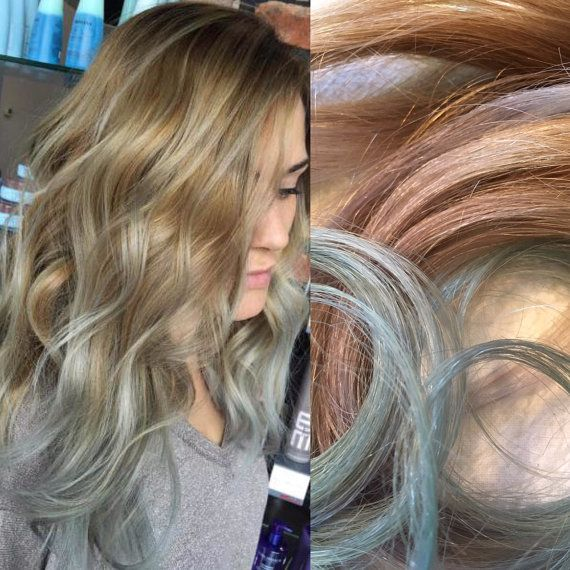 Silver Hair Mint Hair Balayage Hair Ombre Hair Medium Blonde