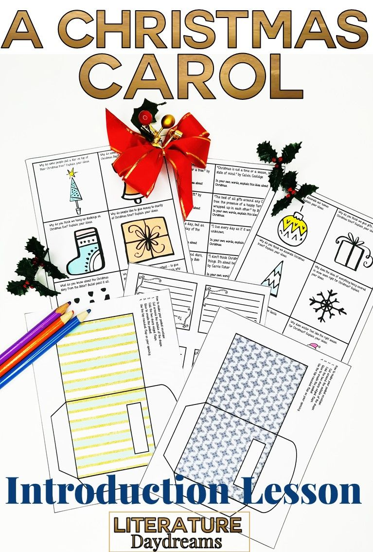 A Christmas Carol Introduction Lesson (With images)   Christmas carol, Christmas carol charles ...