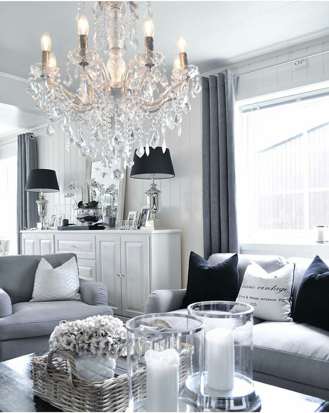 Idee Deco Salon Gris Blanc Rouge salon gris et blanc. white and grey living room. cosy