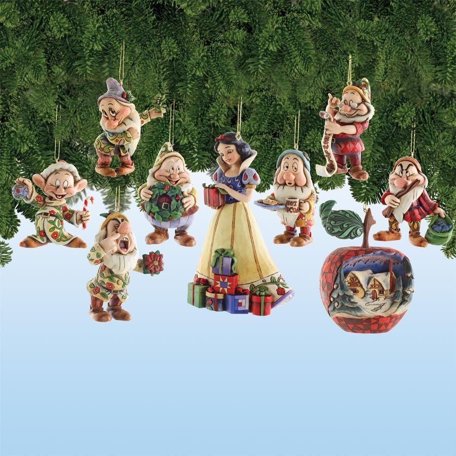 Disney tree ornaments - Nib 4008072 Jim Shore Disney Snow White And The Seven Dwarfs Ornament Gift Set
