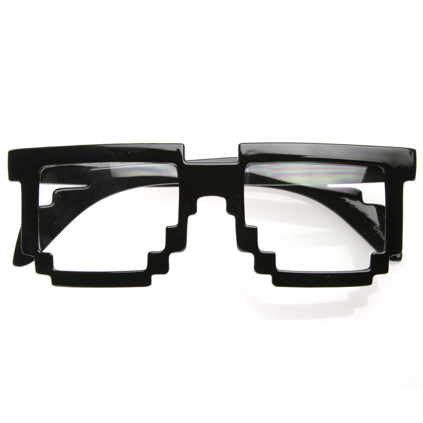 dc65925f380 Cool Hipster 8-Bit Gamer Nerd Geek Glasses 8537 from zeroUV. Saved to  Everything.
