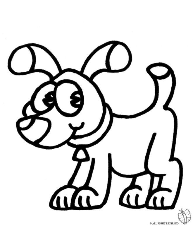 Cane da colorare disegni animali pinterest disegni for Immagini di cani da disegnare