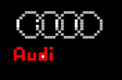 Audi Logo Pixel Art From Brikbookcom Audi Cars Supercars