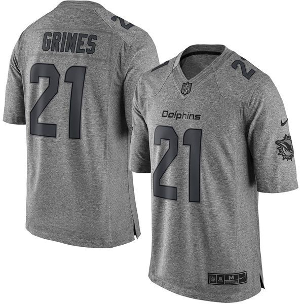 54549b3e8 Brent Grimes Miami Dolphins Nike Gridiron Gray Limited Jersey - Gray -   95.99