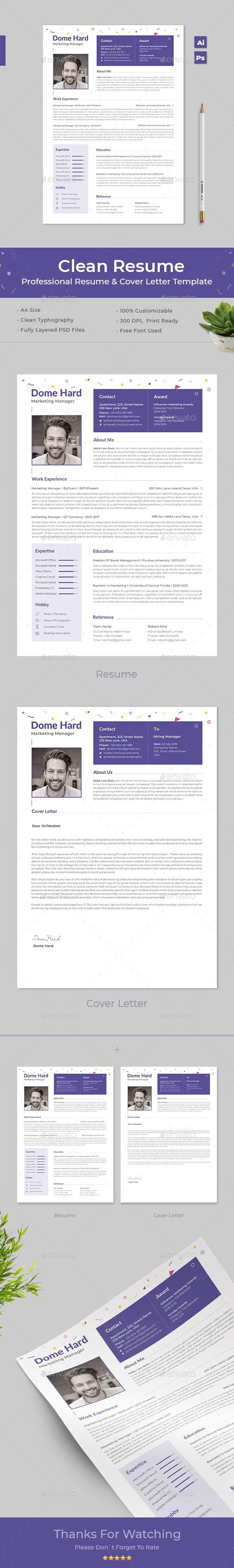 Clean Resume Clean resume, Clean resume template, Resume