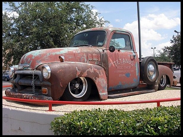 One Awesome Rust Rod 1955 Chevrolet Pickup Mecum Dallas Chevrolet Pickup 1955 Chevrolet Cool Trucks