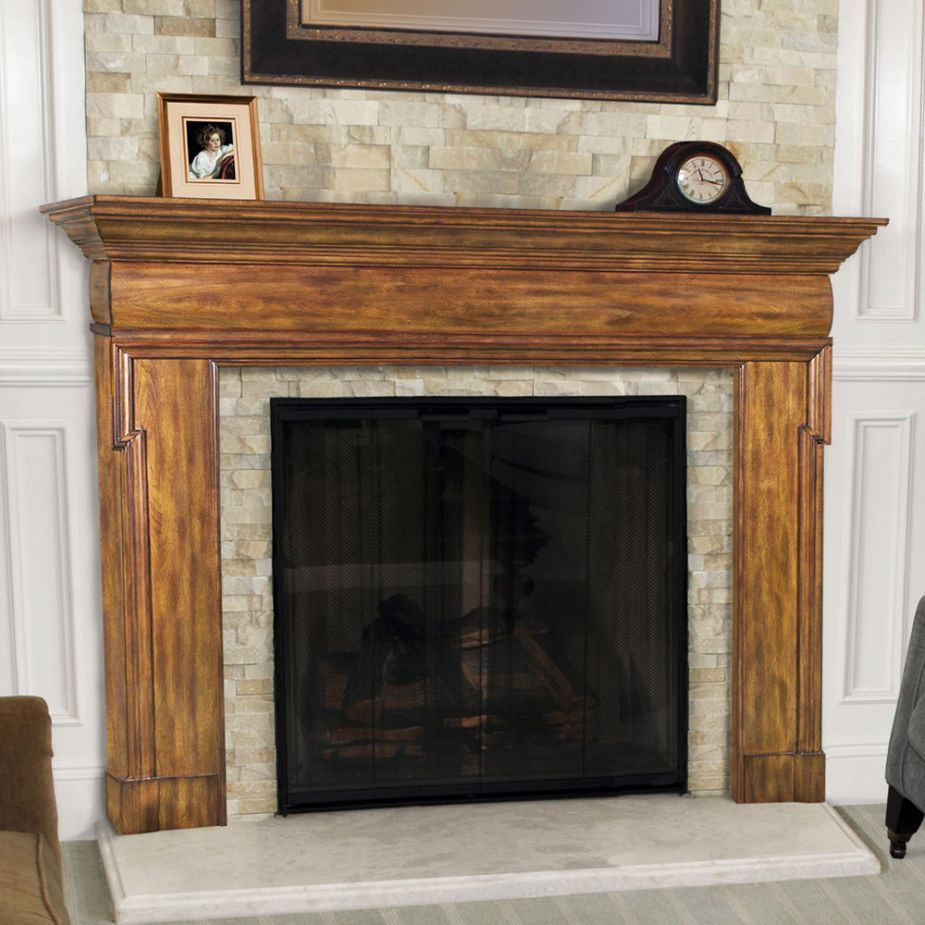 natural fireplace shelf design feature mantel clock in black and oak wood fuel gas fireplace with