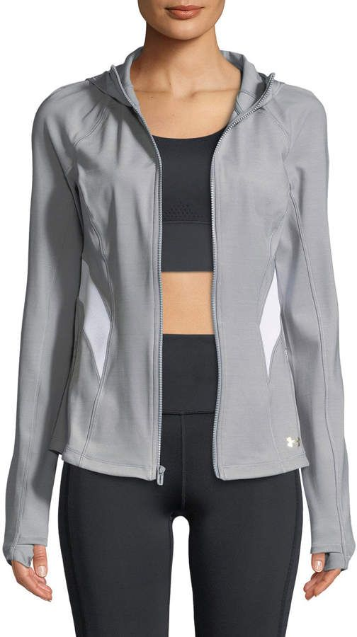 1d74ca6c5a5e7 Women's Designer Activewear at Neiman Marcus. Under Armour Breathelux  Front-Zip Performance Jacket