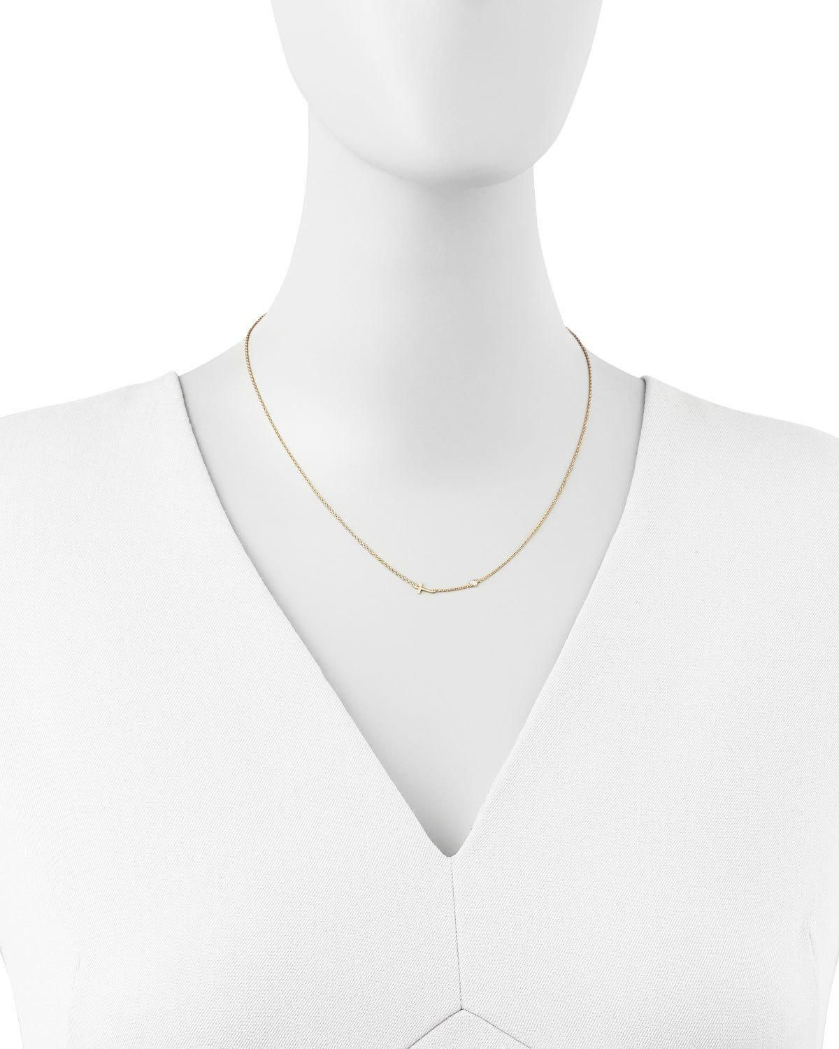 Shy by se cross u singlediamond necklace
