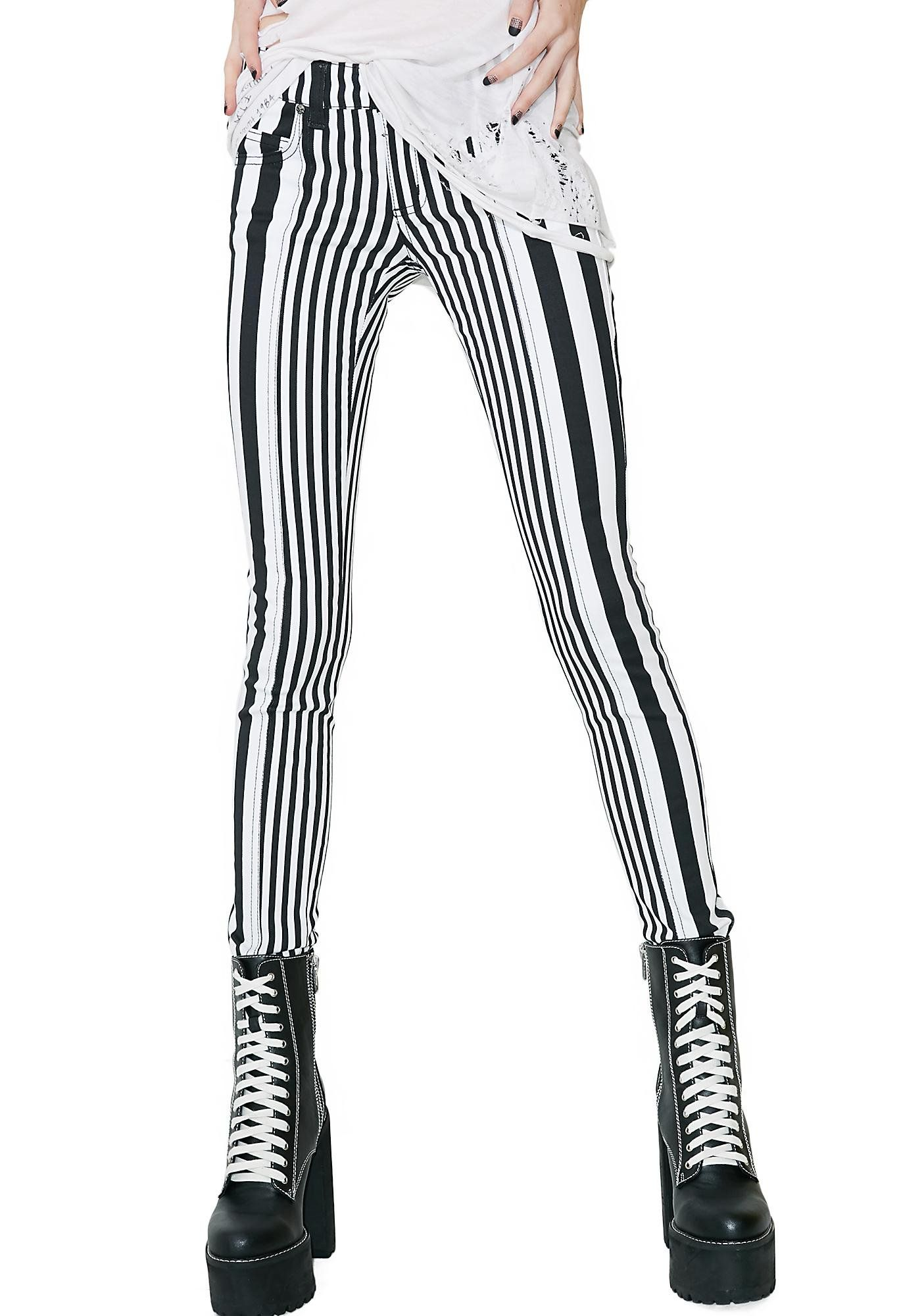 7004914d051b Tripp NYC Variable Jeans will draw the line for ya. These skinny striped  jeans have a classikk five pocket design and a button N' zipper closure.