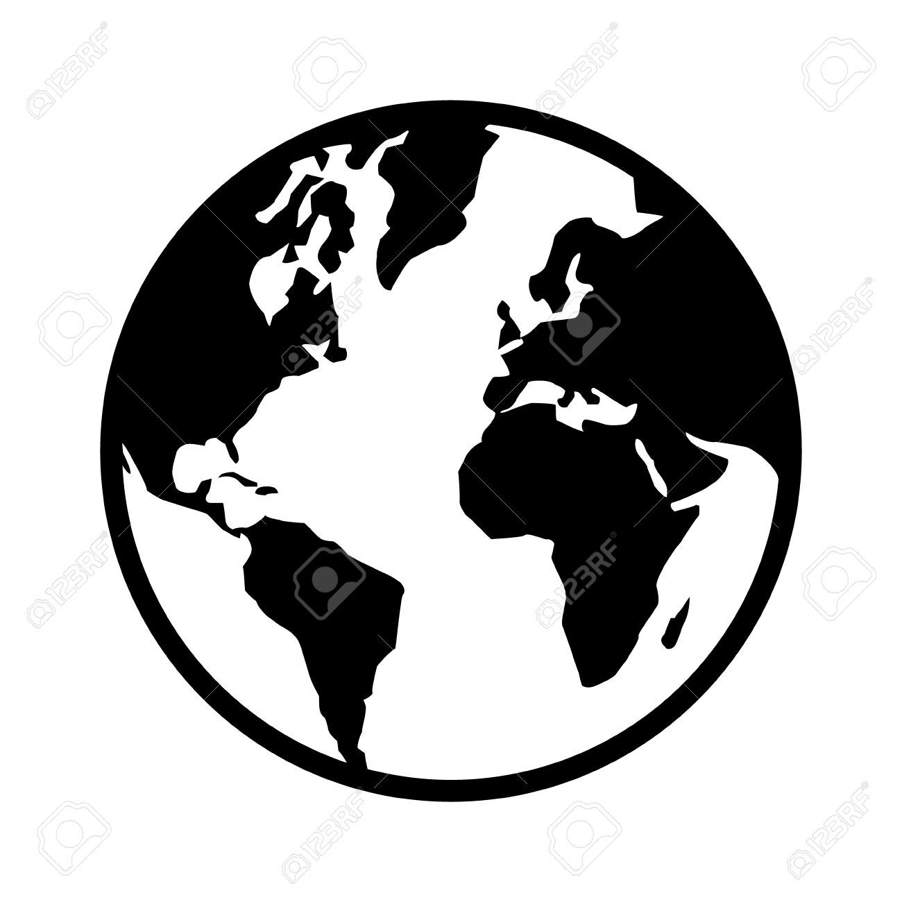 37+ Globe clipart black and white vector ideas in 2021