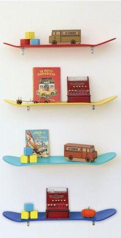skateboard legplank yellow/red