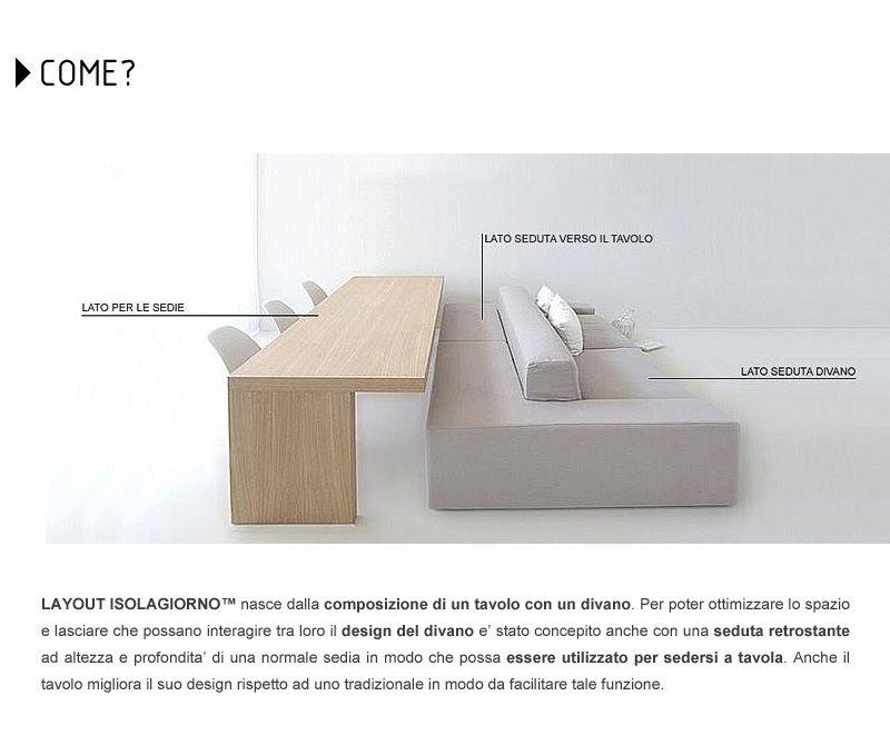 Innovativo sistema tavolo-divano per open space: Isolagiorno Farm ...