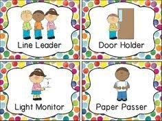 It is an image of Resource Free Printable Preschool Job Chart Pictures