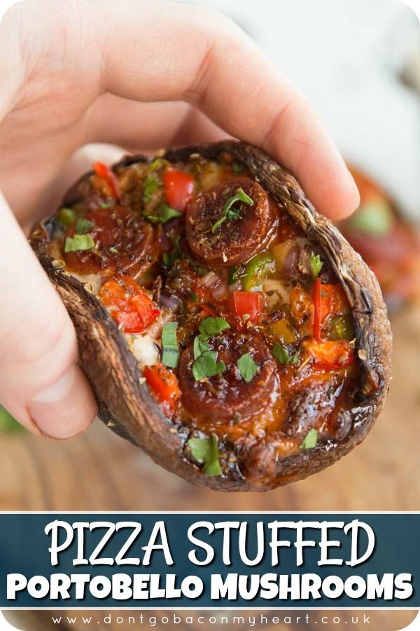 These Pizza Stuffed Portobello Mushrooms are super easy, quick and great fun to make - They're also PERFECT for the low-carb community among us! Say hello to your new favourite keto meal! #keto #lowcarb #mushroom #pizza | www.dontgobaconmyheart.co.uk
