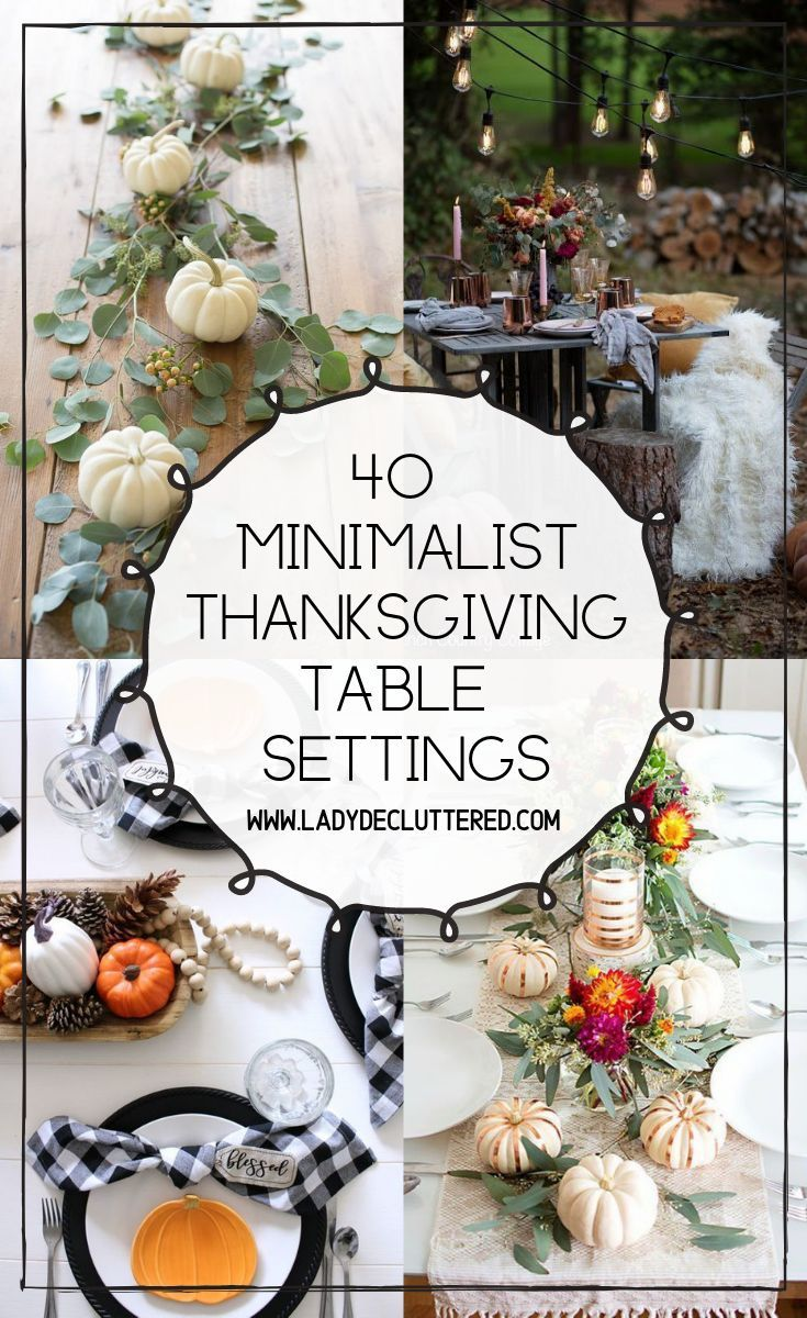 40 Minimalist Thanksgiving Table Decor » Lady Decluttered