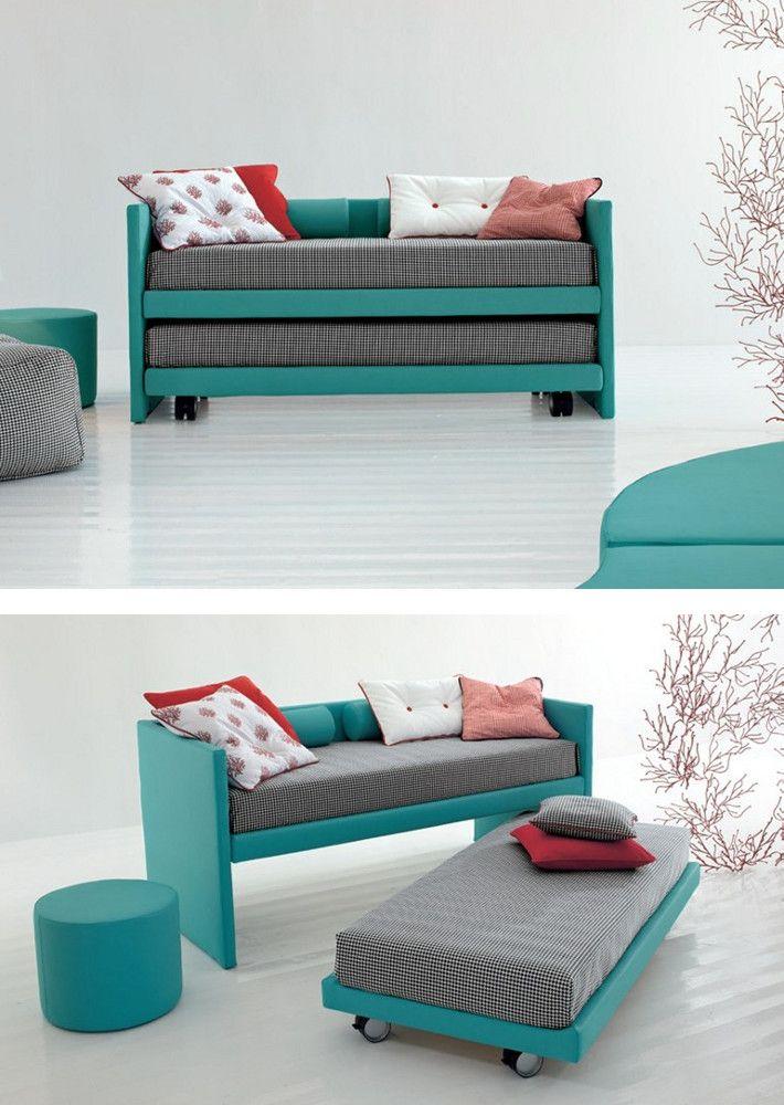 Trundle bed on casters 2much by twils mytwils for Futon sofa cama plegable