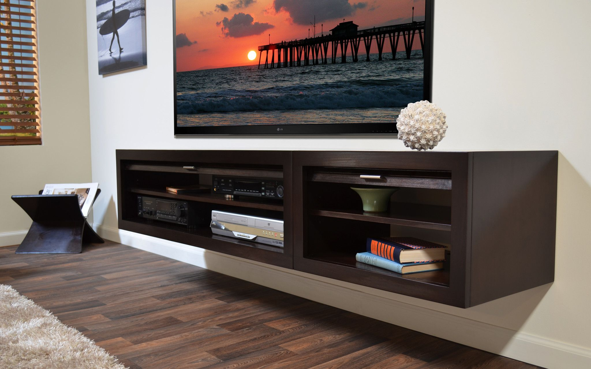 Illustration of Floating Media Console A Way to Display Your TV